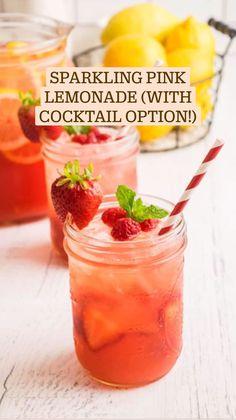 Alcoholic Cocktails, Fun Cocktails, Cocktail Drinks, Fun Drinks, Beverages, Refreshing Summer Cocktails, Summer Drinks, Strawberry Lemonade, Pink Lemonade