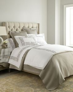 """Plumes"" Bed Linens by SFERRA at Neiman Marcus."