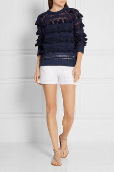 SEA   Tasseled crocheted cotton top   NET-A-PORTER.COM 330
