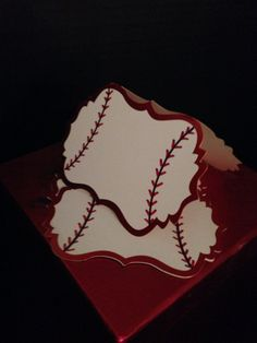 Christmas baseball place cards or gift tags by khenri on Etsy, $15.00