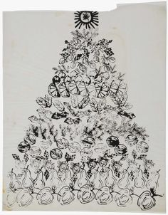 ANDY WARHOL (1928-1987) Christmas Tree ink on tracing paper 23¼ x 19 in. (59.1 x 48.3 cm.) Drawn circa 1956