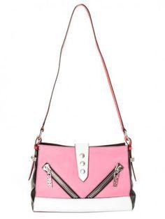 KENZO SA102L04-30-Kenzo pink leather shoulder bag-borsa rosa in pelle-kenzo bag shop online