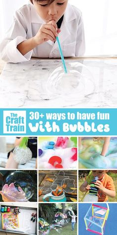 Fun bubble activities for kids! Big bubbles, bubble sensory play, bubble art, the science of bubbles and more - Education and lifestyle