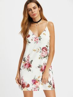 SheIn offers Floral Print Cami Dress & more to fit your fashionable needs. Trendy Dresses, Club Dresses, Women's Fashion Dresses, Trendy Outfits, Summer Dresses, Mini Dresses, Short Dresses, Mini Robes, Straight Dress