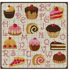 ♥Meus Gráficos De Ponto Cruz♥: Cozinha: Cupcakes Deliciosos em Ponto Cruz