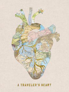 """A Traveler's Heart"" Art Print by Bianca Green on Society6."