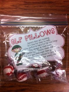 Elf Pillows. Perfect inexpensive gift to the students!!