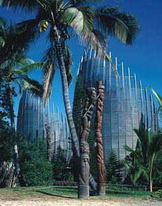 Tjibaou Culture Centre, Nouméa, New Caledonia, Melanesia