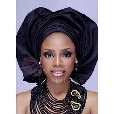 Nigerian wedding color series by Beautycook Studio Black gele