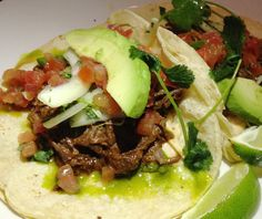 @MortonsGrille ... tacos with double corn tortillas filled with braised beef short ribs, pico de gallo, sliced onions and fresh