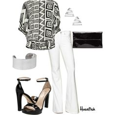 Black & White, created by hosefish on Polyvore
