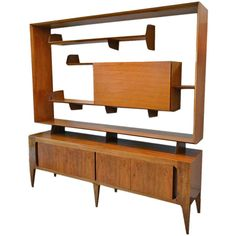 Gio Ponti Sideboard with Bar by Singer and Sons.oh, gio. Woodworking Basics, Woodworking Books, Woodworking Projects, Woodworking Clamps, Cool Furniture, Furniture Design, Storage Shed Plans, Gio Ponti, Wood Working For Beginners