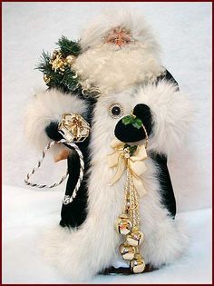 Golden Treasures Santa Handcrafted by Kati