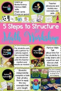 Ideas to help you structure your Math Workshop in your Kindergarten or 1st grade class. These ideas will help maximize your time for math instruction!
