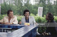 Junk Love' Episode 6 -- Air Date -- Pictured: Philip Michael Thomas as Det. Ricardo +Rico+ Tubbs, Miles Davis as Ivory Jones, Don Johnson as Det. James 'Sonny' Crockett