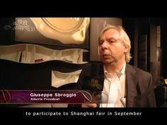 Giuseppe Sbroggiò, Alberta Salotti President, interviewed by an important Chinese TV program.