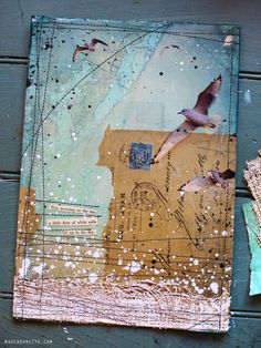 30 paintings in 30 days: day 5 collaged, mixed media ~ love this!! by Mae Chevrette