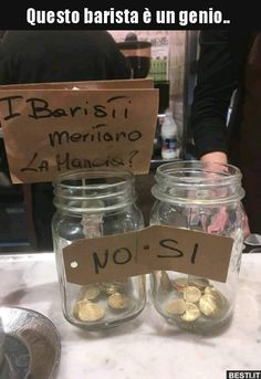 Questo barista è un genio. Funny Images, Funny Photos, Funny Cute, The Funny, Italian Memes, Funny Jokes, Hilarious, Happy Photos, Funny Scenes