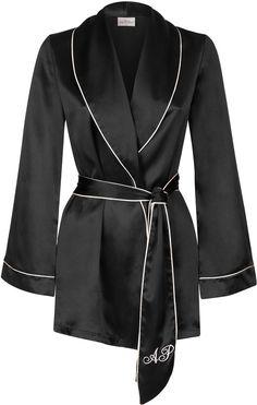 Agent Provocateur Classic Pyjama Jacket Black on shopstyle.co.uk