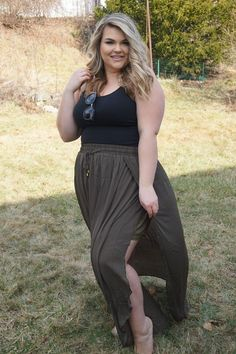 af54c9c3624 Plus Size Clothing for Women - Layered Chiffon Maxi Skirt for Learning To  Be Fearless (Sizes 12 - - Society+ - Society Plus - Buy Online Now!