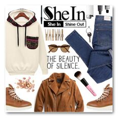 """""""The Beauty Of Silence"""" by tasnime-ben ❤ liked on Polyvore featuring Cheap Monday, Topshop, Exclusive for Intermix, Too Faced Cosmetics, Ray-Ban, Maison Margiela, Bite, Aesop, Clinique and Sheinside"""