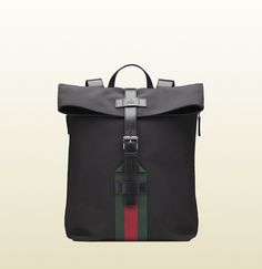 98c2cfa5976 Gucci - black techno canvas backpack 337075KWT6N1060 Canvas Backpack