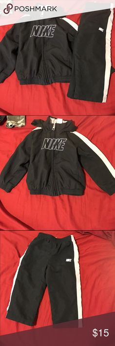 Blue and gray Nike jogging suit Blue and gray Nike jogging suit size 24 month pet & smoke free home Nike Matching Sets