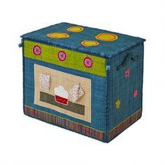 Rice Spielzeugkorb Herd blau S, 43x34x28cm, 43€