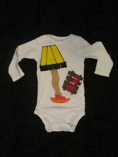 Leg Lamp Ugly Christmas Sweater Party Onesie by MotherFrakers, $22.00