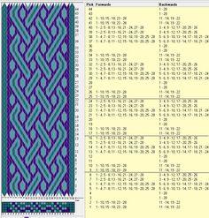 28 tarjetas, 3 colores, repite cada 8 movimientos // sed_253 diseñado en GTT༺❁