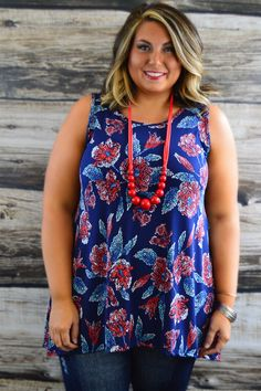 Full Bloom Sleeveless Tunic use coupon code ZZS820 at checkout for 10% off and free shipping! #affordable #fashion #boutique