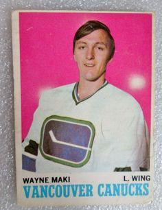 1970-71 ORIGINAL OPC WAYNE MAKI ROOKIE CARD! RC NHL HOCKEY  #OPC #MontrealCanadiens
