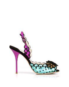 Sandal with ankle strap leather hologram (multicolor) by #SophiaWebster