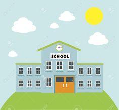 school building cartoon Google zoeken Thiệp Tập san Dễ thương