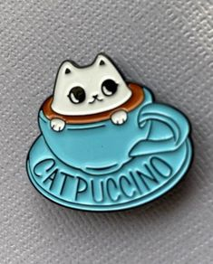 Wear your Cat Lady tag proudly with these cute enamel pins. All designs are hard enamelBacking is clip on to stay secure. Dimensions: 1 1/2 inches long, 1 inch wide for each design. These pins look great alone or grouped with a couple of other pin designs. Wear on denim jackets, canvas bags or backpacks. 10% of proceeds from sale of these pins will be donated to KC-based KC Pet Project as part of our Shopping with Purr-pose initiative. KC Pet Project provides medical care to homeless pets in the