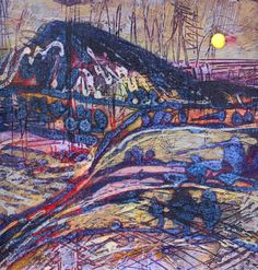 The works here are landscapes form around the yorkshire dales, peak district and the Lakes. Collagraph Printmaking, Abstract Watercolor, Watercolor Landscape, Abstract Art, Beauty In Art, Mountain Art, Hippie Art, Art Sketchbook, Art Techniques