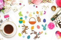 FREE Easter Graphic Elements - Cutting Files for Cameo, Cricut and Curio - Free Easter DXF for Personal Use - Spring Design Sayings For Wine Glasses, Mailbox Decals, All Silhouettes, Spring Design, Be My Valentine, Christmas Humor, School Design, Easter Crafts, Cutting Files