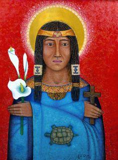 Saint Kateri Tekawitha Fine Art Print by ArtoftheSacred on Etsy