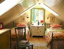 girls attic bedroom