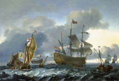 Dutch Attack on the Medway: the 'Royal Charles' Carried into Dutch Waters, 12 June 1667, by Ludolf Backhuysen I ~ 1667, National Maritime Museum