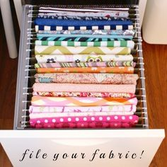 New craft room storage organisation organizing ideas small spaces 36 ideas Sewing Room Organization, Craft Room Storage, Fabric Storage, Organization Ideas, Storage Ideas, Paper Storage, Fabric Organizer, Craft Rooms, Storage Solutions