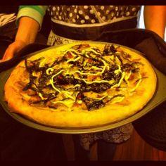 Homemade Japanese pizza