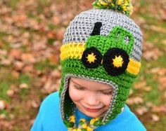 Free Crochet John Deere Hat Pattern : John deere hat Etsy