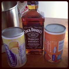12 oz whiskey, 1 can each of lemonade and orange concentrate, 1/2 cup sugar and Sprite. Mix all ingredients (but Sprite) in 2 qt plastic pitcher and then fill rest of pitcher with water. Stir and freeze. Serve 1/2 slush mixture and 1/2 Sprite.