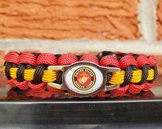 USMC EGA Concho Overlay King Cobra braid Marine   Etsy Usmc Emblem, Spartan Helmet, King Cobra, Scotch Tape, Paracord Bracelets, Watch Bands, Overlays, Two By Two, Braids