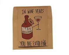 funny 30th wine birthday card/ customizable 30th birthday card/wine birthday card/ 50th birthday card/ born 1988 card/ cute birthday card