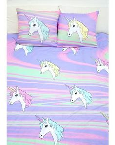 Sugarpills Pastel Ponyz Bed Sheets sleep amongst yer cutie pie protectors with this ultra cute 'n plush bedding, featuring trippy acid pastel print all over and unicorn graphics with colorful pony hair to imbue yer sleepytime with magical dreams. Real Unicorn, Magical Unicorn, Rainbow Unicorn, Unicorn Party, Unicorn Birthday, Unicorn Rooms, Unicorn Bedroom, Unicorn Bed Sheets, My New Room