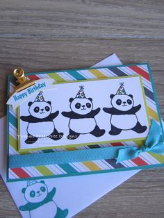 Party Pandas is a fabulous new 2018 Sale-a-brations stamp set. It makes quick and simple cards.