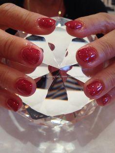 Red glitter gel polish