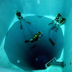 Would you dare to dive in the deepest pool in the world?  Check it out here: https://laughingsquid.com/nemo33-the-deepest-swimming-pool-in-the-world/